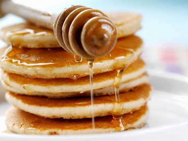 Image for Honey Pancakes with Honey Cinnamon Syrup