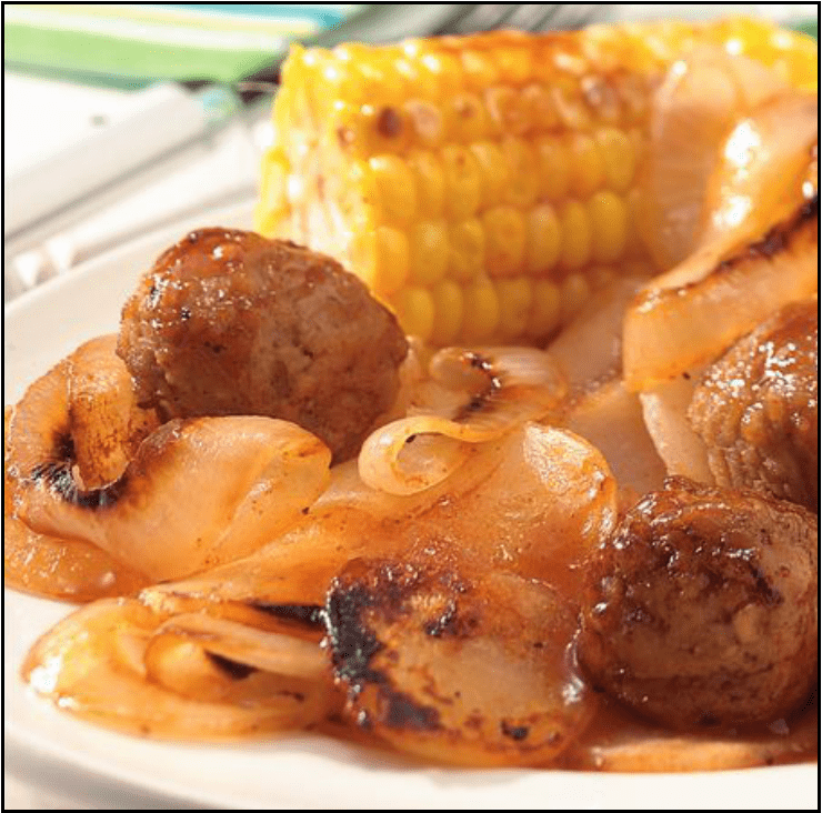 Image for Post - Honey Barbecue Meatball Foil Packets