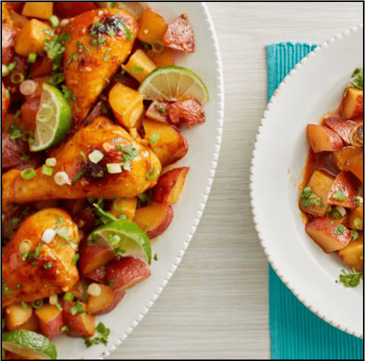 Image for Post - Slow Cooker Mexican Honey Garlic Chicken & Potatoes