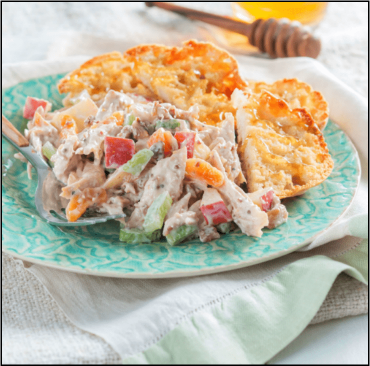 Image for Grilled Honey Waldorf Chicken Salad with Muffin Toast Points