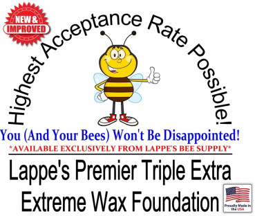 Image for Benefits of Lappe's Premier Triple Extra Extreme Beeswax Foundation
